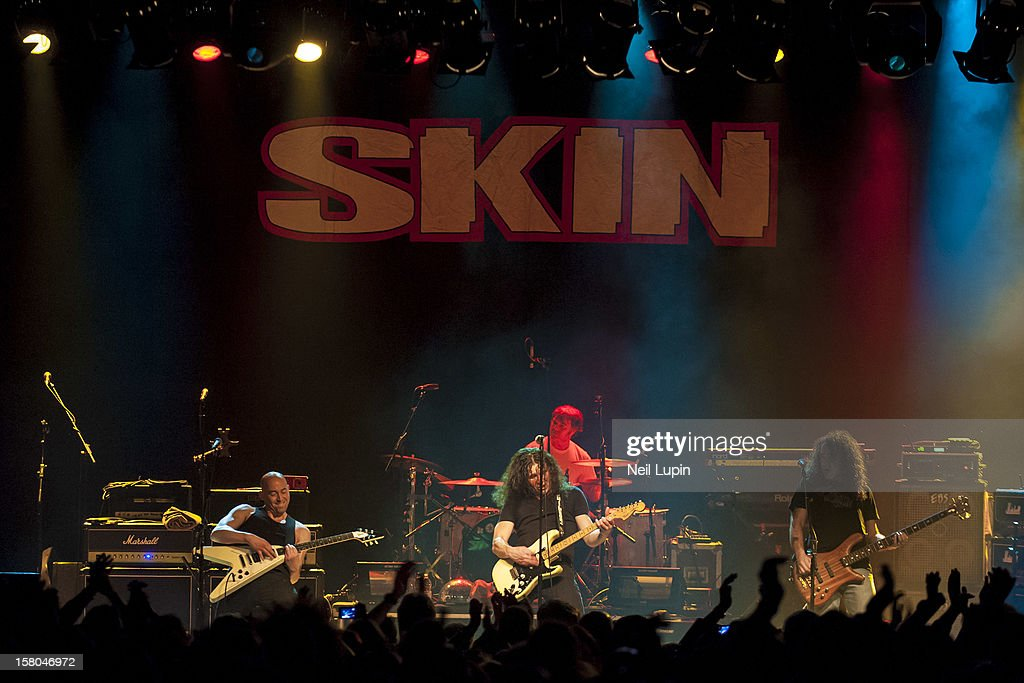 Myke Gray, Nev MacDonald, Che Beresford and Andy Robbins of Skin perform at Wulfrun Hall on December 7, 2012 in Wolverhampton, England.