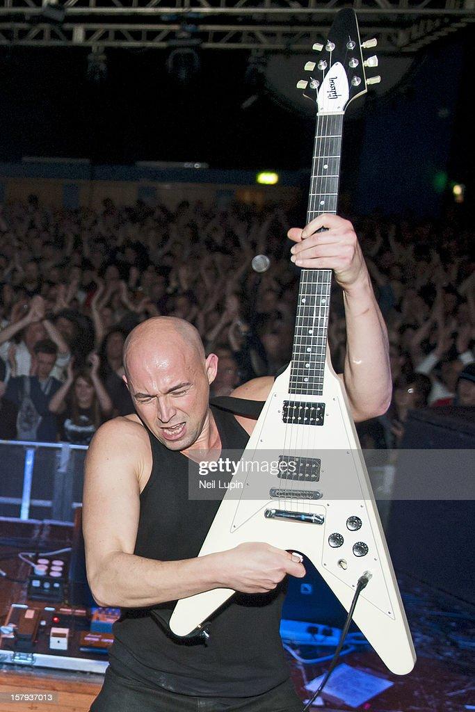 Myke Gray of Skin performs at Wulfrun Hall on December 7, 2012 in Wolverhampton, England.