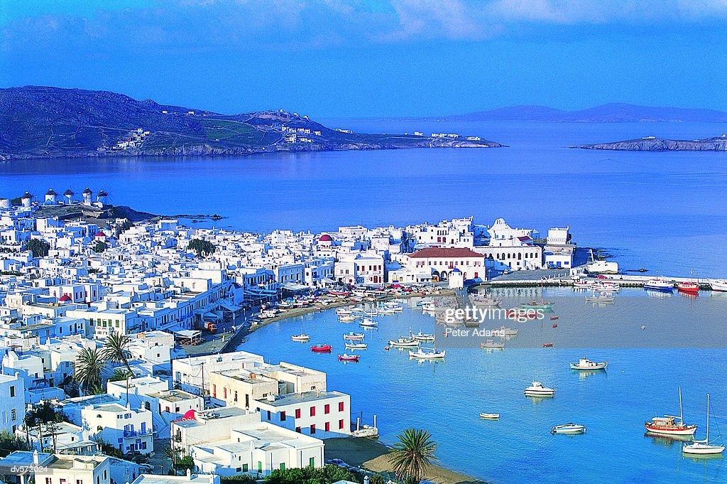 Mykonos Harbour, Mykonos Island, Greece