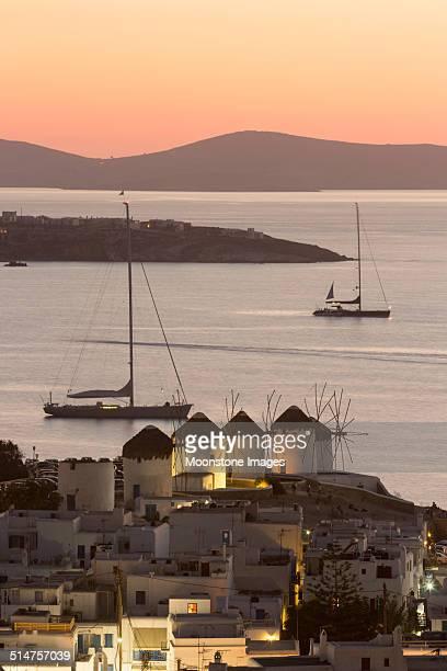Mykonos Town in the Cyclades, Greece
