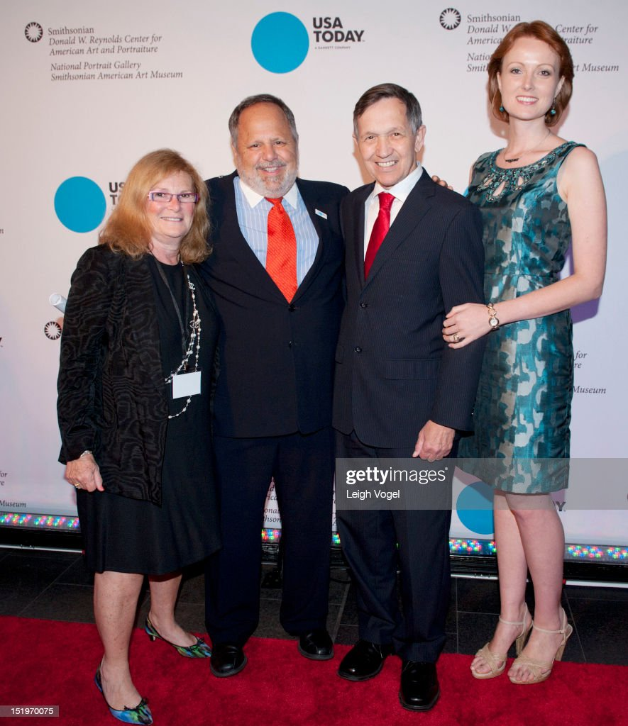 Myla Lerner Larry Kramer Dennis Kucinich and Elizabeth Harper Kucinich attend USA TODAY unveils new look as it celebrates the next 30 years at...