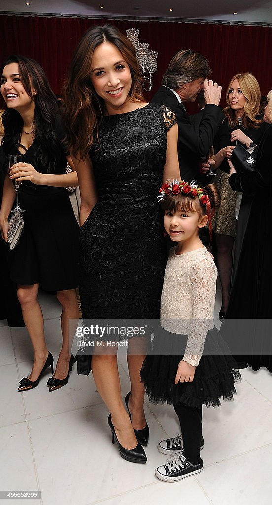 Myleen Klass and Daughter Ava attends the pre-party for the English National Ballet's The Nutcracker at St Martin's Lane Hotel on December 12, 2013 in London, England.