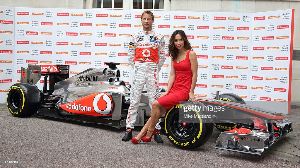 <a gi-track='captionPersonalityLinkClicked' href=/galleries/search?phrase=Myleene+Klass&family=editorial&specificpeople=201597 ng-click='$event.stopPropagation()'>Myleene Klass</a> and <a gi-track='captionPersonalityLinkClicked' href=/galleries/search?phrase=Jenson+Button&family=editorial&specificpeople=171505 ng-click='$event.stopPropagation()'>Jenson Button</a> attend a photocall to launch Santander's 16-25 Railcard at British Medical Association on June 26, 2013 in London, England.