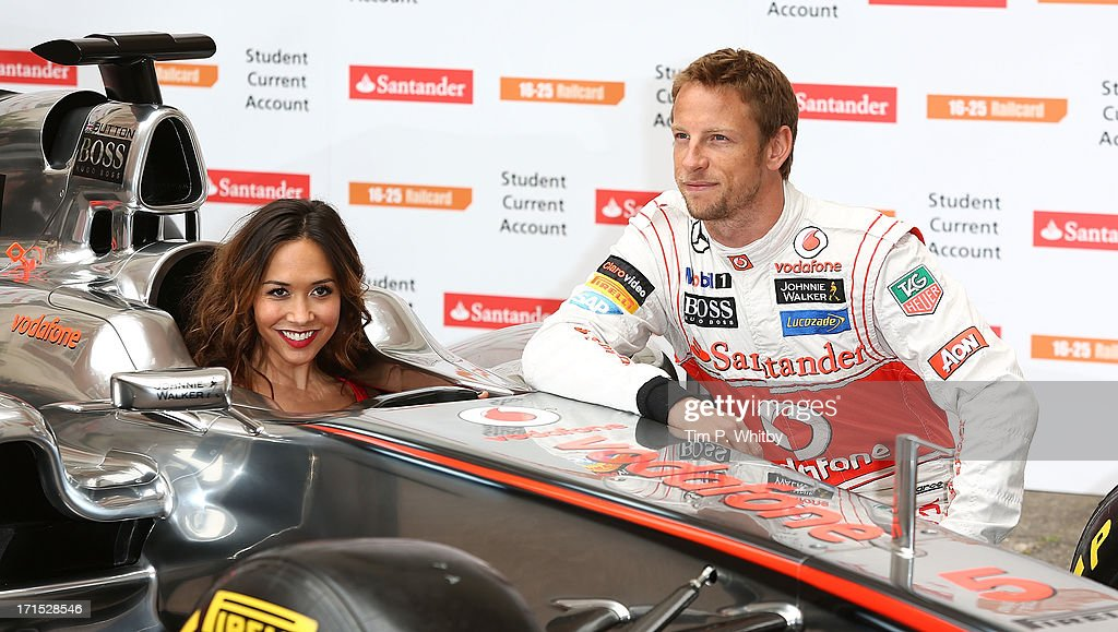 <a gi-track='captionPersonalityLinkClicked' href=/galleries/search?phrase=Myleene+Klass&family=editorial&specificpeople=201597 ng-click='$event.stopPropagation()'>Myleene Klass</a> and <a gi-track='captionPersonalityLinkClicked' href=/galleries/search?phrase=Jenson+Button&family=editorial&specificpeople=171505 ng-click='$event.stopPropagation()'>Jenson Button</a> attends a photocall to launch Santander's 16 - 25 Railcard at British Medical Association on June 26, 2013 in London, England.