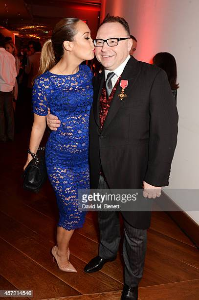 Myleene Klass and Jonathan Shalit attend a party hosted by Jonathan Shalit to celebrate his OBE at Avenue on October 14 2014 in London England