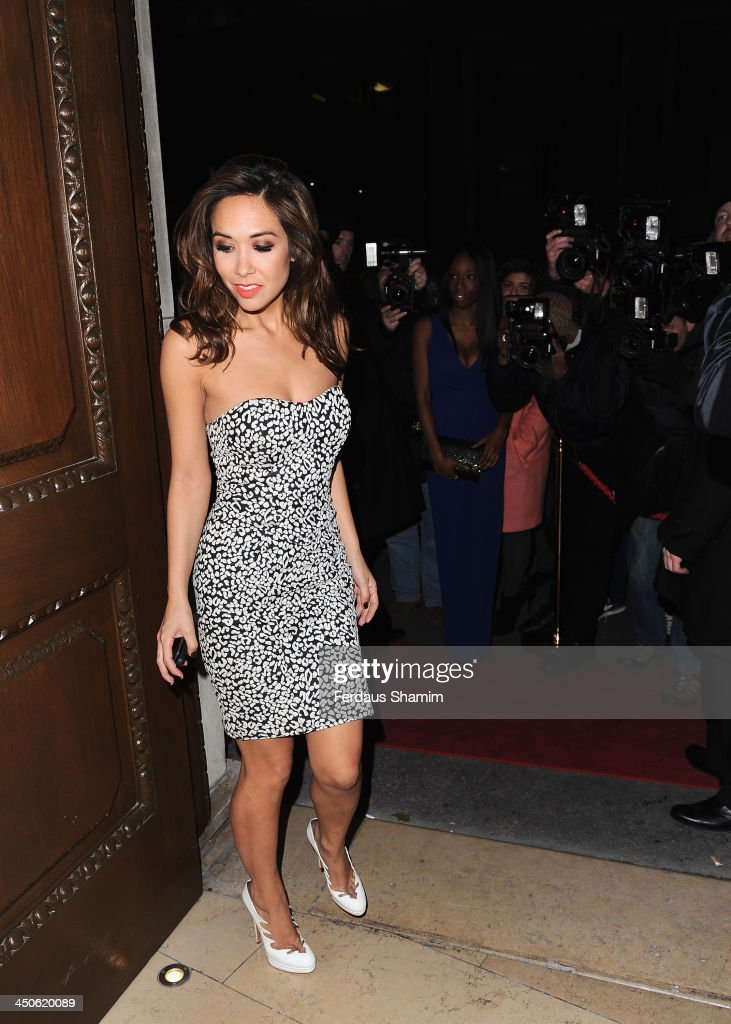<a gi-track='captionPersonalityLinkClicked' href=/galleries/search?phrase=Myleene+Klass&family=editorial&specificpeople=201597 ng-click='$event.stopPropagation()'>Myleene Klass</a> arrives for the 'Steam and Rye' resturent launch party on November 19, 2013 in London, United Kingdom.