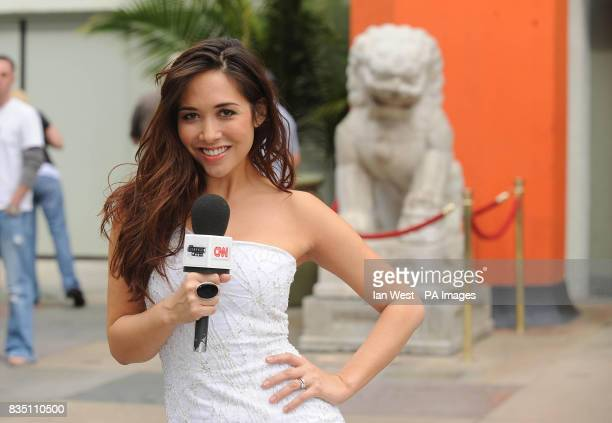 Myleene Klass at Grauman's Chinese Theatre in Los Angeles to announce she will be hosting CNN's International movie programme 'The Screening Room' at...