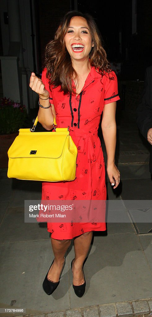 <a gi-track='captionPersonalityLinkClicked' href=/galleries/search?phrase=Myleene+Klass&family=editorial&specificpeople=201597 ng-click='$event.stopPropagation()'>Myleene Klass</a> attending the ITV Summer Reception on July 17, 2013 in London, England.