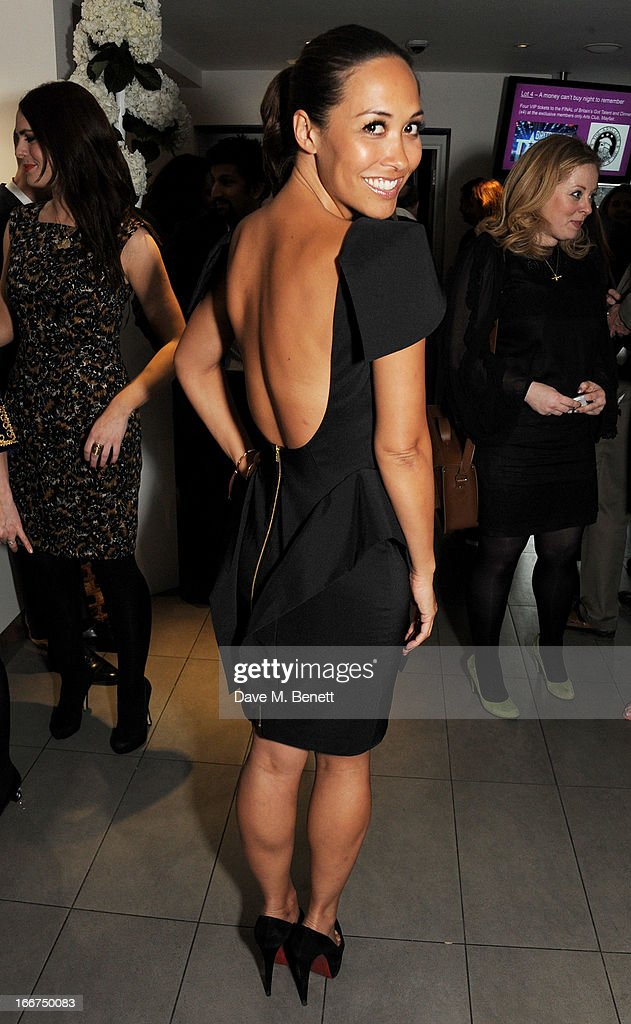 Myleene Klass attends a drink reception celebrating 'An Evening With Chickenshed', a cabaret performance in aid of inclusive theatre company Chickenshed, hosted by Jonathan Shalit at The London Television Centre on April 16, 2013 in London, England.