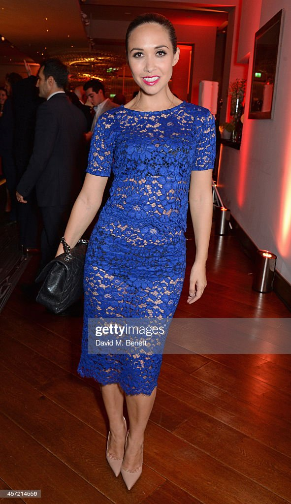 <a gi-track='captionPersonalityLinkClicked' href=/galleries/search?phrase=Myleene+Klass&family=editorial&specificpeople=201597 ng-click='$event.stopPropagation()'>Myleene Klass</a> attends a party hosted by Jonathan Shalit to celebrate his OBE at Avenue on October 14, 2014 in London, England.
