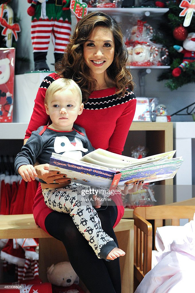 Myleene Klass attends a photocall ahead of a VIP Christmas party at the newly refurbished store Mothercare Oxford Street on November 28, 2013 in London, England.