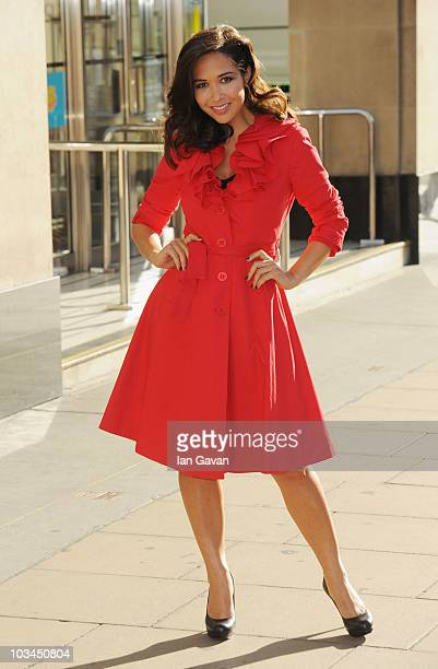 Myleene Klass attends a photocall as the face of MS TV at Marks and Spencers Marble Arch on August 19 2010 in London England