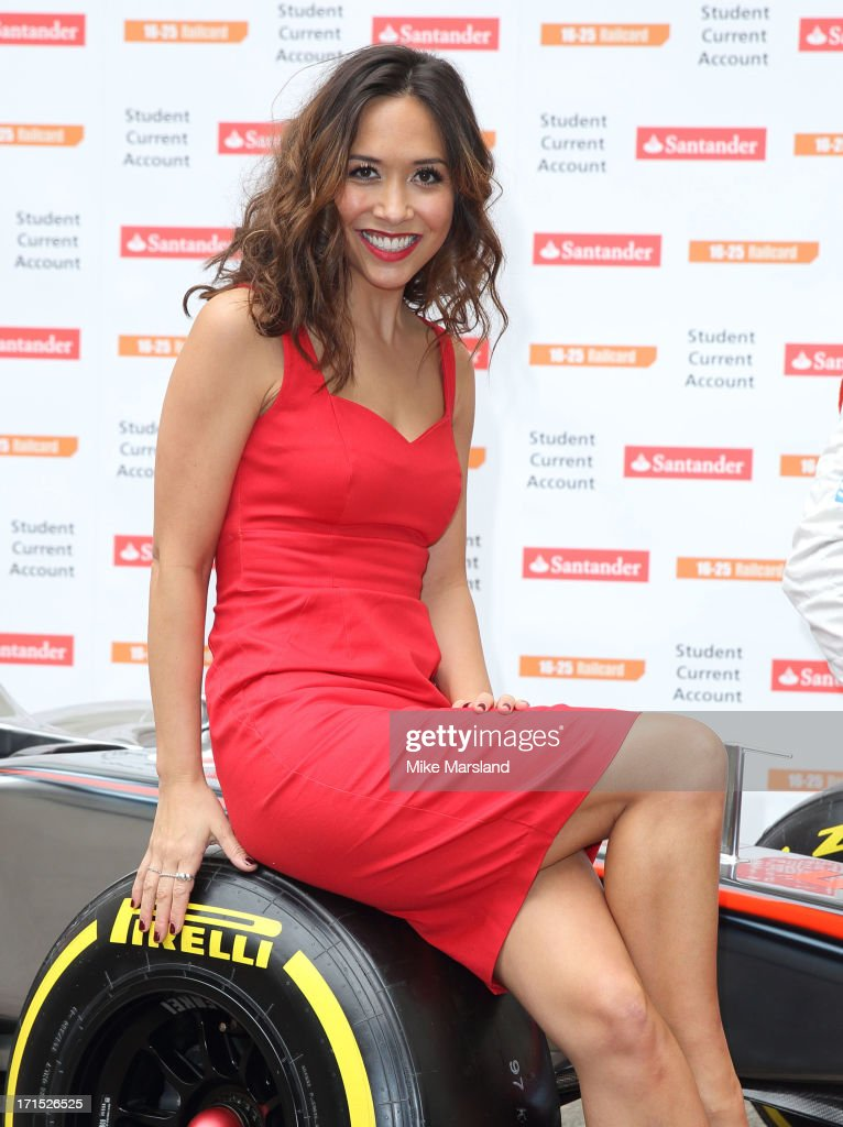 Myleene Klass attends a photocall to launch Santander's 16-25 Railcard at British Medical Association on June 26, 2013 in London, England.