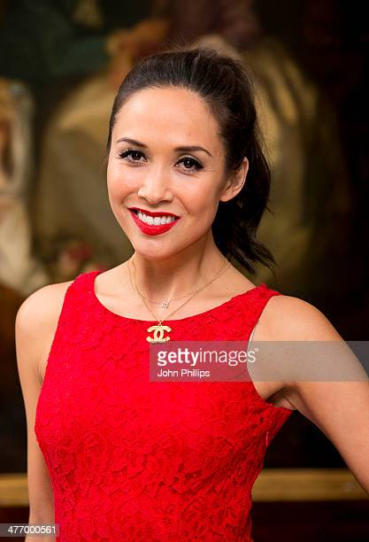 Myleene Klass attends as the London Lesbian and Gay switchboard celebrates its 40th birthday at The Waldorf Hilton Hotel on March 6 2014 in London...