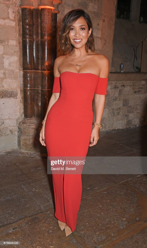 Myleene Klass attends Save The Children's Magical Winter Gala celebrating the 20th anniversary since the publication of the first of J.K. Rowling's Harry Potter stories at The Guildhall on November 16, 2017 in London, England.