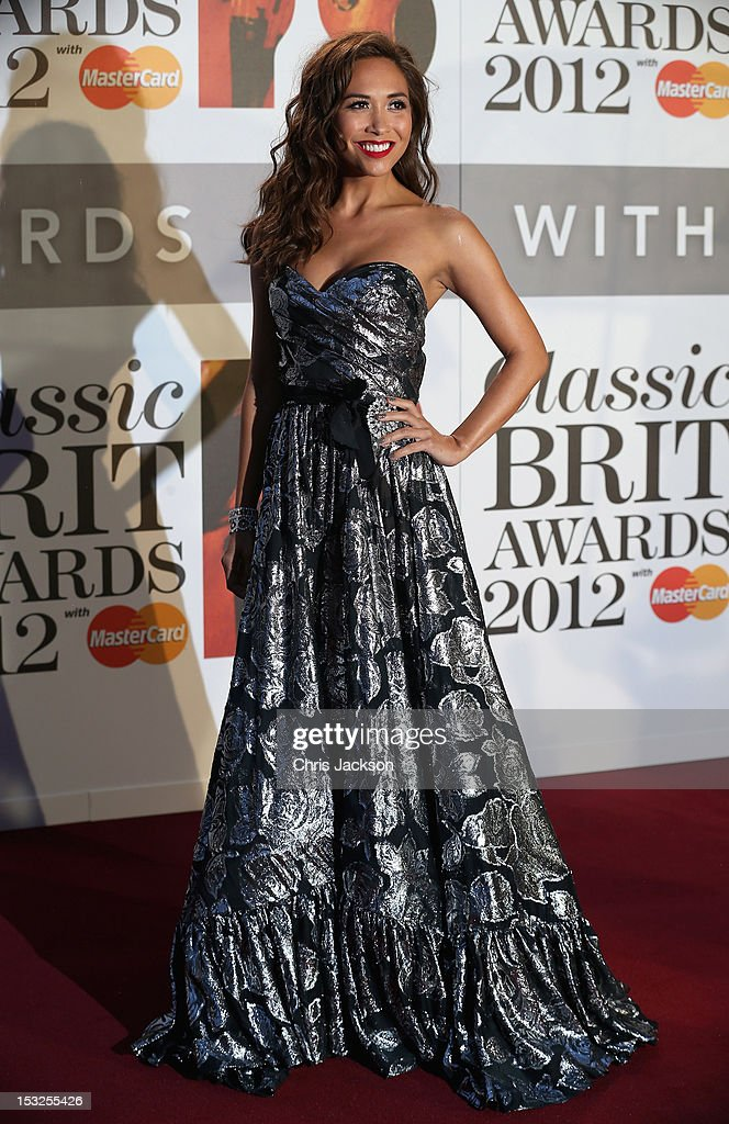 Myleene Klass attends the Classic BRIT Awards at the Royal Albert Hall on October 2, 2012 in London, England.