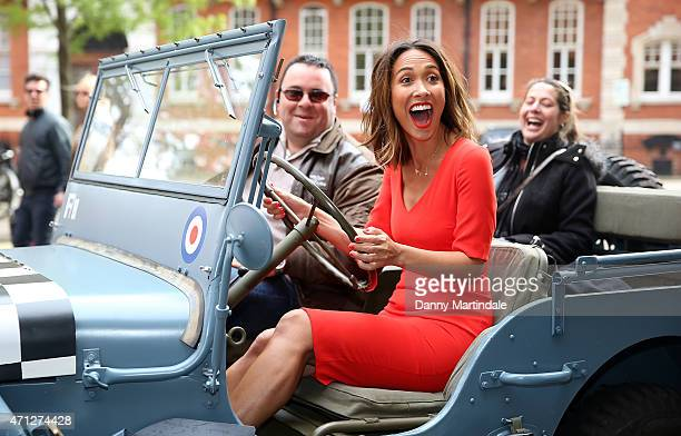Myleene Klass attends the Classic FM's VE day in concert photocall at Royal Albert Hall on April 24 2015 in London England