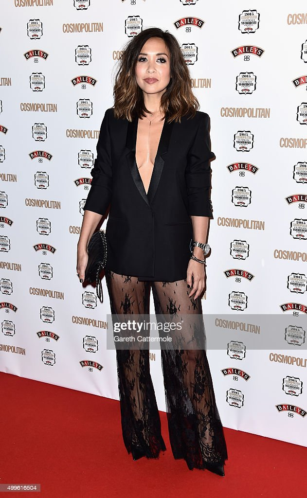 <a gi-track='captionPersonalityLinkClicked' href=/galleries/search?phrase=Myleene+Klass&family=editorial&specificpeople=201597 ng-click='$event.stopPropagation()'>Myleene Klass</a> attends the Cosmopolitan Ultimate Women Of The Year Awards at One Mayfair on December 2, 2015 in London, England.