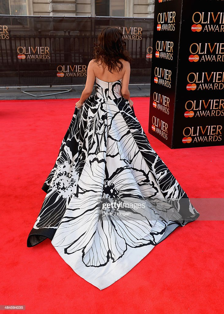 Myleene Klass attends the Laurence Olivier Awards at the Royal Opera House on April 13, 2014 in London, England.