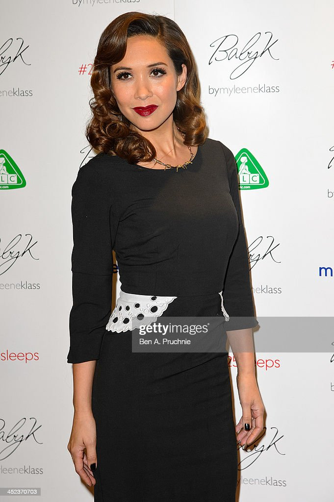 Myleene Klass attends the Mothercare VIP Christmas party at the newly refurbished Oxford Street Store at Mothercare Oxford Street on November 28, 2013 in London, England.