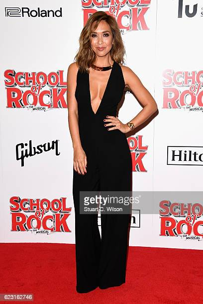Myleene Klass attends the opening night of 'School Of Rock The Musical' at the New London Theatre Drury Lane on November 14 2016 in London England