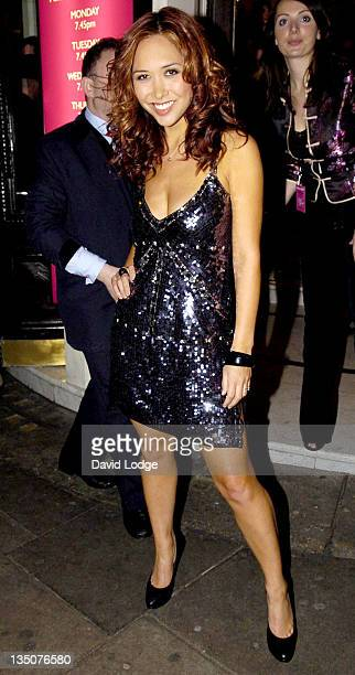 Myleene Klass during 'Dirty Dancing' The Classic Story on Stage Arrivals at Aldwych Theatre in London Great Britain