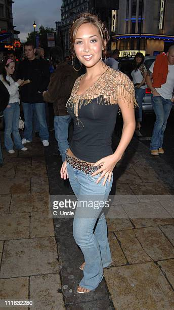 Myleene Klass during 'Team America World Police' London DVD Release Party at CC Club in London Great Britain