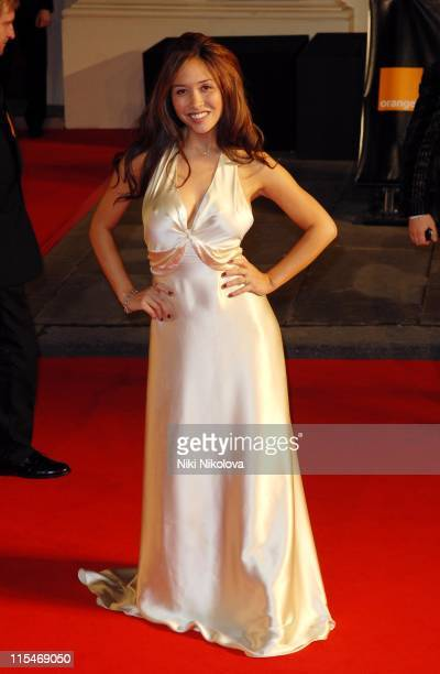 Myleene Klass during The Orange British Academy Film Awards 2007 Red Carpet Arrivals at Royal Opera House in London Great Britain