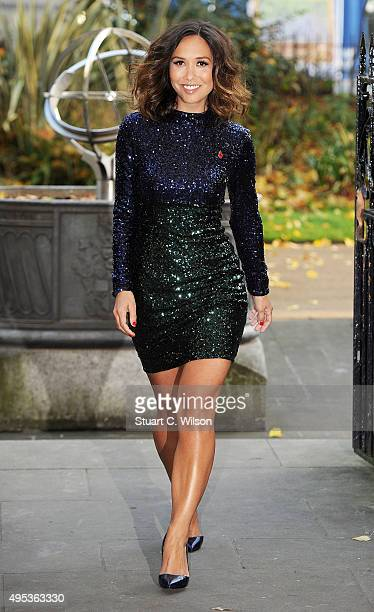Myleene Klass launches her festive clothing range for Littlewoods at The Savoy Hotel on November 2 2015 in London England