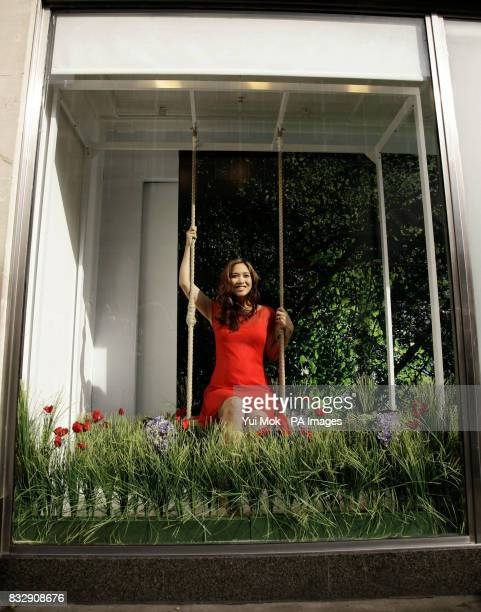 Myleene Klass launches the new summer Womenswear TV advert for Marks Spencer at their Marble Arch store in central London