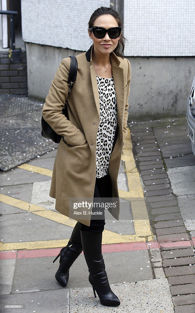 Myleene Klass leaves the ITV studios after hosting 'Loose Women' March 27, 2014 in London, England.