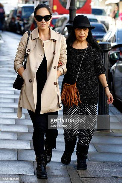 Myleene Klass seen in Highgate with her mother Magdalena on September 14 2015 in London England Photo by Alex Huckle/GC Images