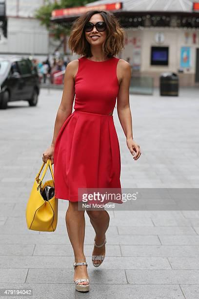 Myleene Klass seen leaving Smooth Radio on July 2 2015 in London England