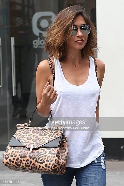 Myleene Klass seen leaving Smooth Radio on July 7 2015 in London England