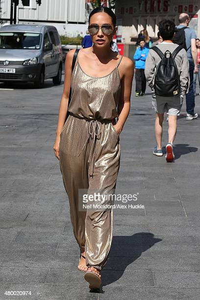 Myleene Klass seen leaving Smooth Radio on July 9 2015 in London England