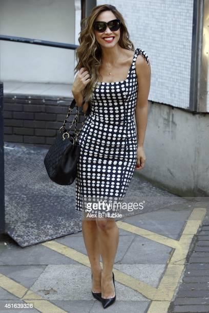 KINGDOM JULY Myleene Klass seen leaving the ITV Studios on July 3 2014 in London England