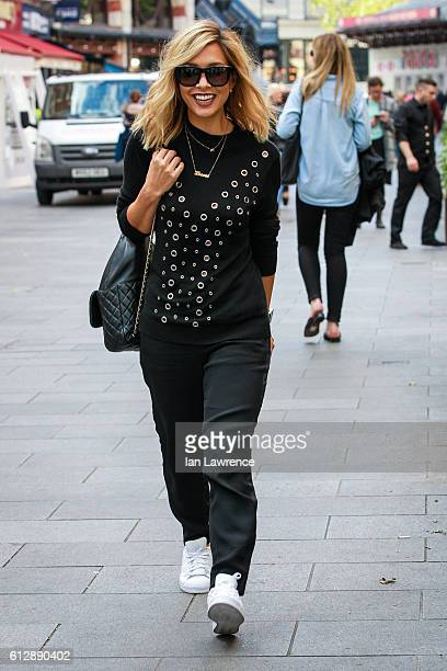 Myleene Klass seen leaving the Smooth Radio Studios on October 5 2016 in London England