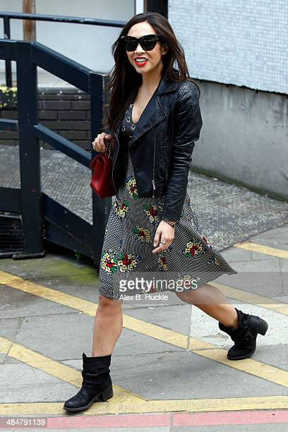 Myleene Klass sighted leaving the ITV Studios after hosting 'Loose Women' April 14 2014 in London England