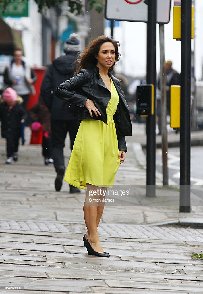 Myleene Klass sighting on March 22, 2013 in London, England.