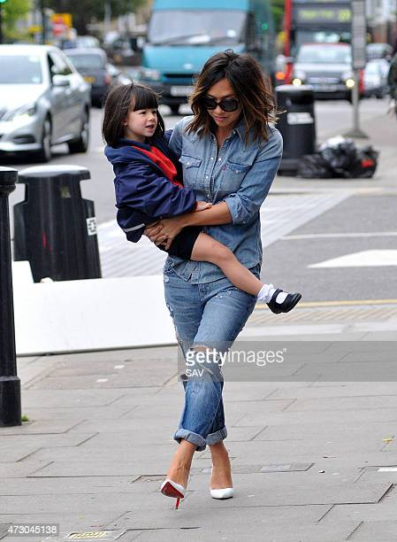 Myleene Klass with daughter Hero Harper Quinn sighted on May 12 2015 in London England