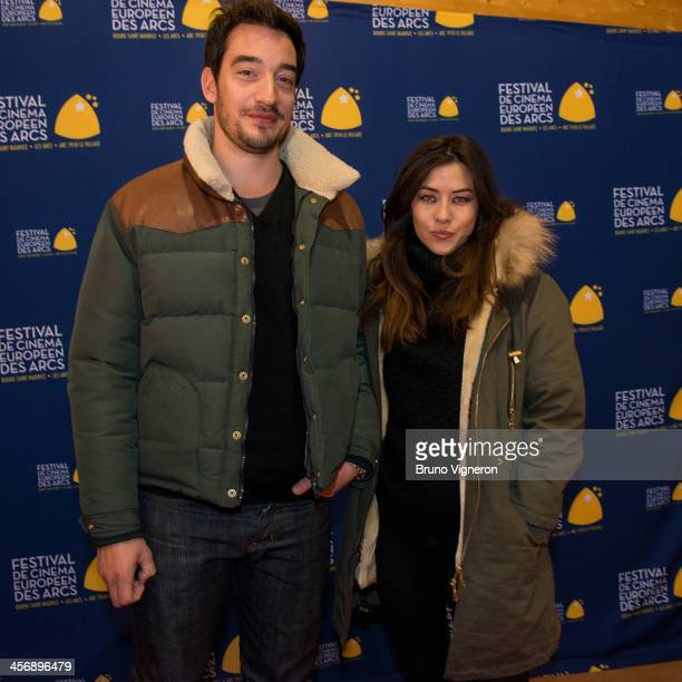 Mylene Jampanoi and Dimitri Stephanides attend the 5th edition of Les Arcs European Film Festival on December 15 2013 in Les Arcs France