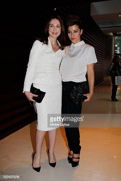 Mylene Jampanoi and Elsa Zylberstein attend the Rouge Dior Lipstick Launch Party by Dior MakeUp at Hotel Paris Plaza Athenee on June 24 2010 in Paris...