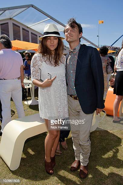 Mylene Jampanoi and Matthew Williamson attends the Veuve Clicquot Gold Cup Final at Cowdray Park on July 18 2010 in Midhurst England