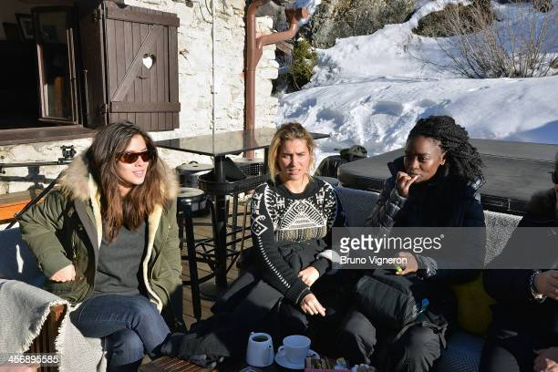 Mylene Jampanoi and Vahina Giocante and Aissa Maiga attend the 5th edition of Les Arcs European Film Festival on December 15 2013 in Les Arcs France