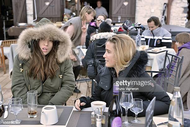 Mylene Jampanoi and Vahina Giocante attend the 5th edition of Les Arcs European Film Festival on December 15 2013 in Les Arcs France