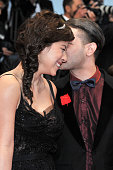 Mylene Jampanoi and Xavier Dolan at the premiere for 'Amour' during the 65th Cannes International Film Festival
