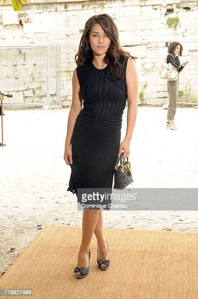 Mylene Jampanoi arrives at the Christian Dior Pret a Porter show as part of the Paris Womenswear Fashion Week Spring/Summer 2010 on October 2 2009 in...