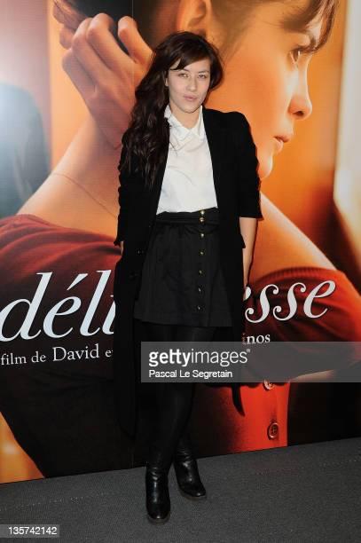 Mylene Jampanoi attends 'La Delicatesse' Paris Premiere on December 13 2011 in Paris France