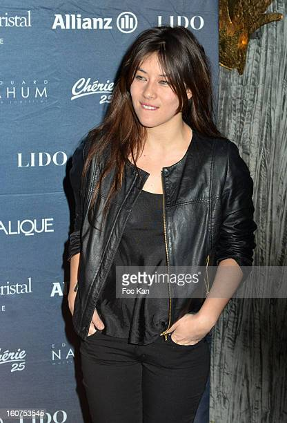 Mylene Jampanoi attends the 'Globes de Cristal 2013' Press Room at the Lido on February 4 2013 in Paris France