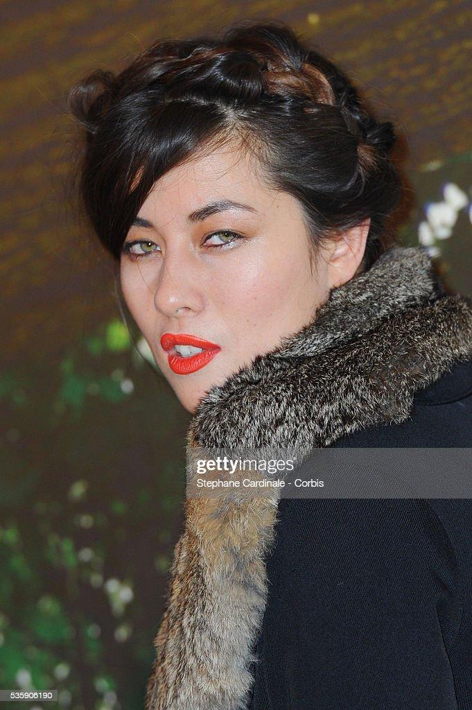 Mylene Jampanoi attends the 'Il etait une foret' Paris Premiere at Cinema Gaumont Marignan, in Paris.